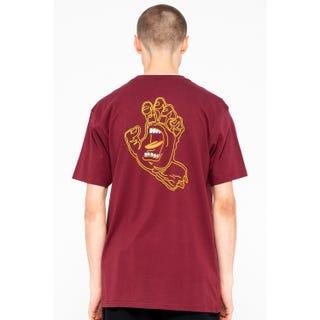 Santa Cruz Void Hand T-Shirt Burgundy