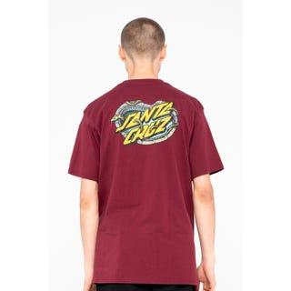 Santa Cruz Pool Snakes T-Shirt Burgundy