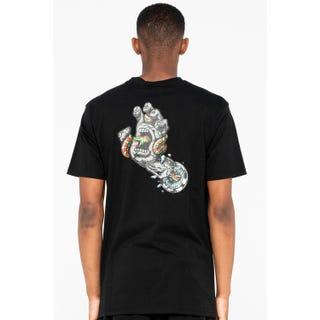 Santa Cruz Pool Snakes Hand T-Shirt Black