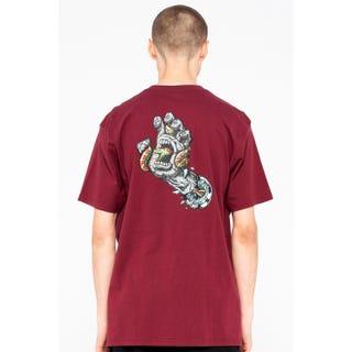 Santa Cruz Pool Snakes Hand T-Shirt Burgundy