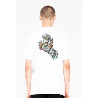 Santa Cruz Pool Snakes Hand T-Shirt White
