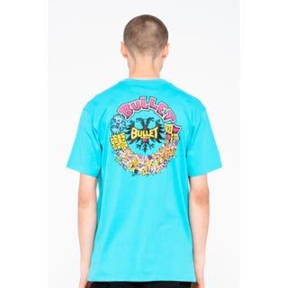 Santa Cruz Bullet Riot T-Shirt Cyan