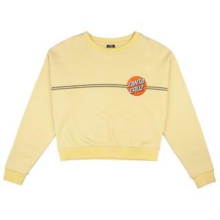 Santa Cruz - Womens OG Classic Dot Crew Sweatshirt Buttercup