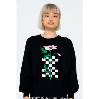 Santa Cruz Checkerbloom Knit Crew Black