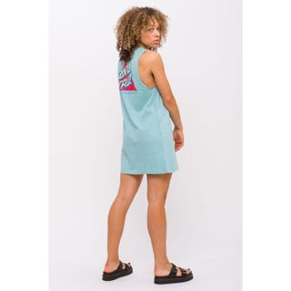 Santa Cruz Not A Dot Dress Mineral Blue