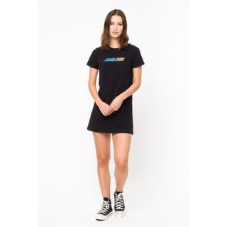 Santa Cruz Classic Strip Fade Dress	 Black