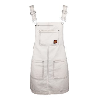 Santa Cruz Lindsay Dungaree Dress Ecru/Black