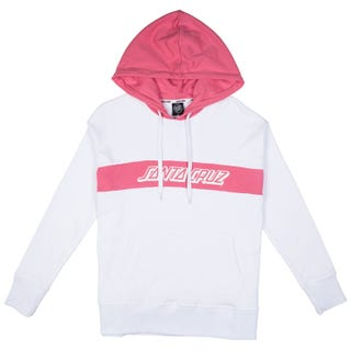 Santa Cruz Classic Strip Women's Hood - White/Rose