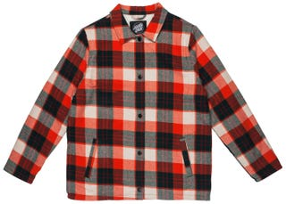 Santa Cruz Retreat Jacket for Women - Red Plaid Check