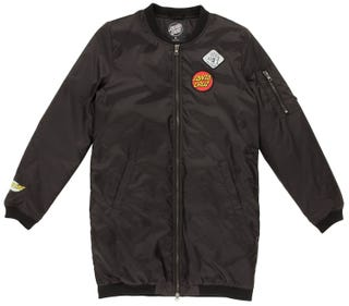 Santa Cruz Patched Bomber Jacket for Women - Black