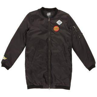 Santa Cruz Patched Bomber Jacket for Women - Black