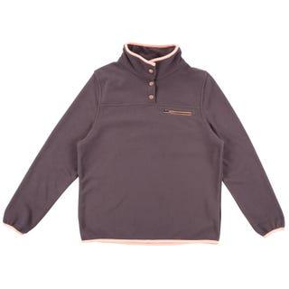 Santa Cruz Women's Peak Fleece - Charcoal / Peach