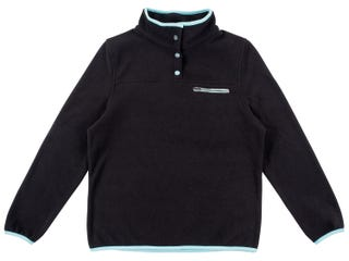 Santa Cruz Women's Peak Fleece - Black / Aqua