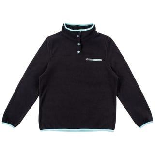 Santa Cruz Women's Peak Fleece - Black / Aqua
