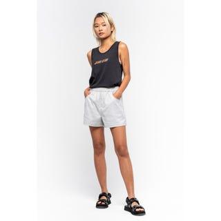 Santa Cruz Coombe Ladies Shorts Woven Check Grey
