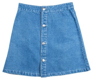 Screaming Hand Denim Skirt by Santa Cruz