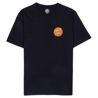Santa Cruz Classic Dot T-Shirt Womens Short Sleeve Black.