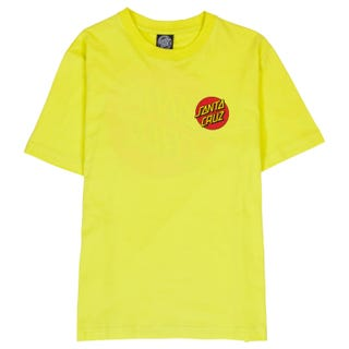 Santa Cruz Classic Dot T-Shirt Womens Short Sleeve Limeade.