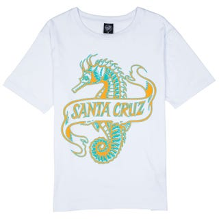 Santa Cruz Seahorse Ladies' T-Shirt White