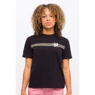 Santa Cruz Opus Dot Stripes T-Shirt Black