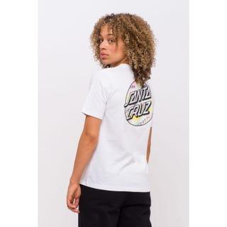 Santa Cruz Womens Primary Dot T-Shirt White