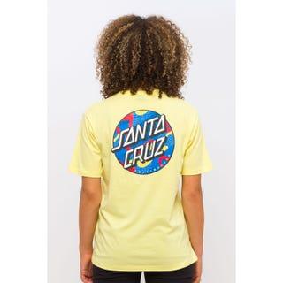 Santa Cruz Primary Dot T-Shirt Pastel Yellow