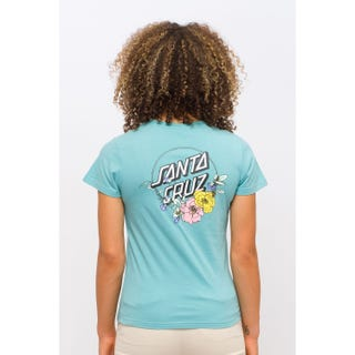 Santa Cruz Floral Dot T-Shirt in Mineral Blue