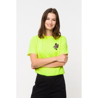Glowmingo Womens T-Shirt in Safety Green | Santa Cruz UK