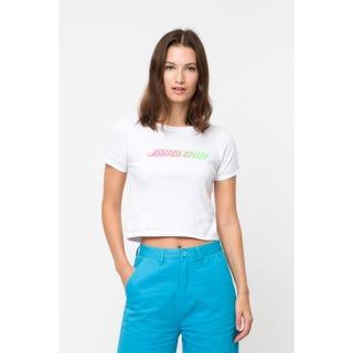 Santa Cruz Classic Strip Fade T-Shirt White