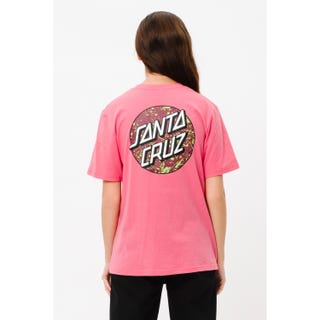 Santa Cruz Speckled Dot T-Shirt in pink lemonade