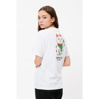 Santa Cruz Lucky Cat T-Shirt White