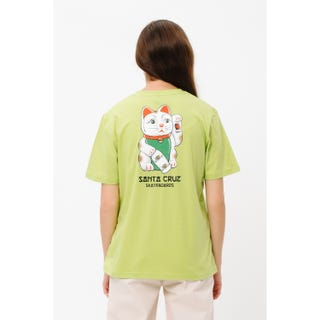 Santa Cruz Lucky Cat T-Shirt Green Glow
