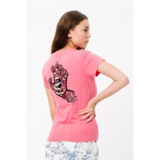 Santa Cruz Speckled Hand T-Shirt in pink lemonade