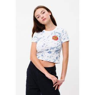 Santa Cruz Kit T-Shirt White / Blue Splatter
