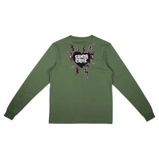 Electro Heart L/S T-Shirt Turf Green