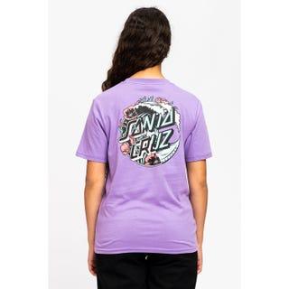 Santa Cruz Wave Dot Splice T-Shirt Violet