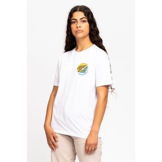 Santa Cruz Wave Dot Splice T-Shirt White