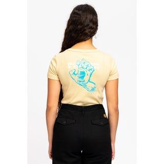 Santa Cruz Crime Hand T-Shirt Iced Coffee