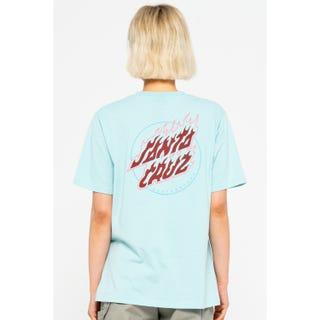 Santa Cruz Absent Flame Dot T-Shirt Sea Blue