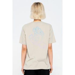 Santa Cruz Void Hand Fade T-Shirt Silver