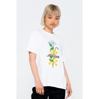 Santa Cruz Checkerbloom Strip T-Shirt White