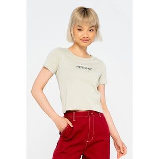 Santa Cruz Heart Strip Women's T-Shirt Silver
