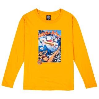 Santa Cruz Hello Steve? Women's L/S T-Shirt Tangerine