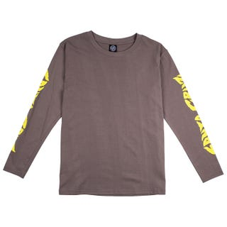 Santa Cruz Surge T-Shirt Long Sleeve for Women - Charcoal.