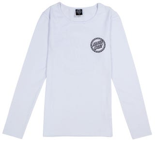 Santa Cruz Fast Times Dot T-Shirt Long Sleeve for Women - White