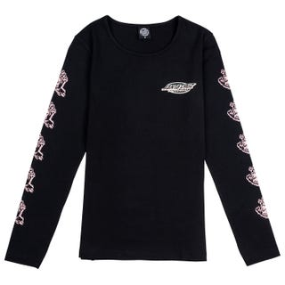 Santa Cruz Throwdown Hand T-Shirt Long Sleeve for Women - Black