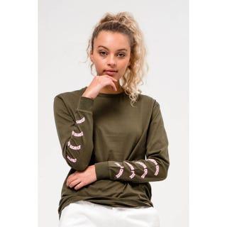 Santa Cruz Clothing UK – Horizon L/S T-Shirt Military Green