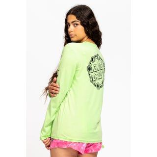 Santa Cruz Phase Dot L/S T-Shirt Fresh Lime