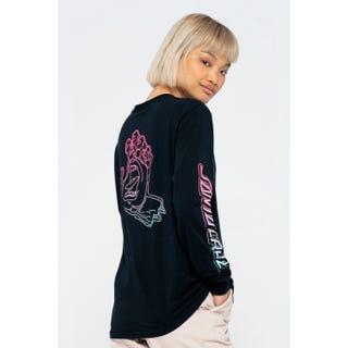 Santa Cruz Void Hand Fade L/S T-Shirt Black