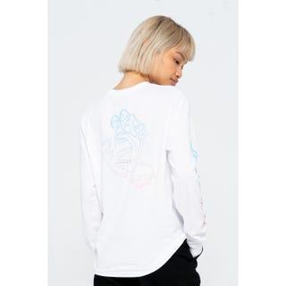 Santa Cruz Void Hand Fade L/S T-Shirt White